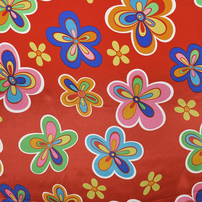 Saten, poliester, cvetlični, 19094-0001