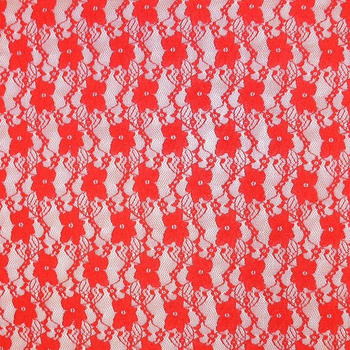 Čipka, elastična, cvetlični, 19138-015, rdeča