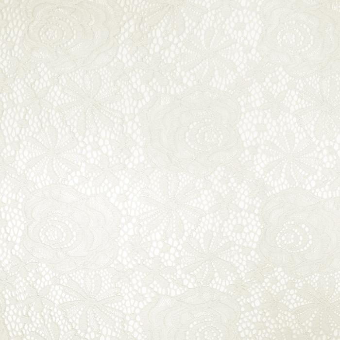 Čipka, elastična, cvetlični, 19157-051, smetana