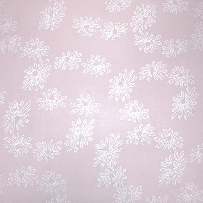 Bombaž, tanek, cvetlični, 19170-012, roza