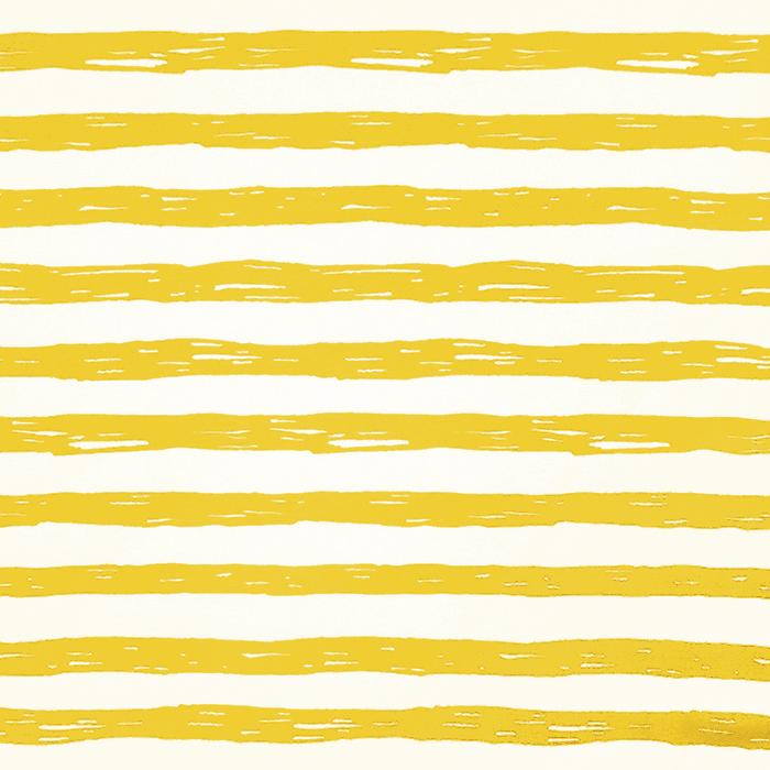 Jersey, bombaž, črte, 19192-61358, belo rumena