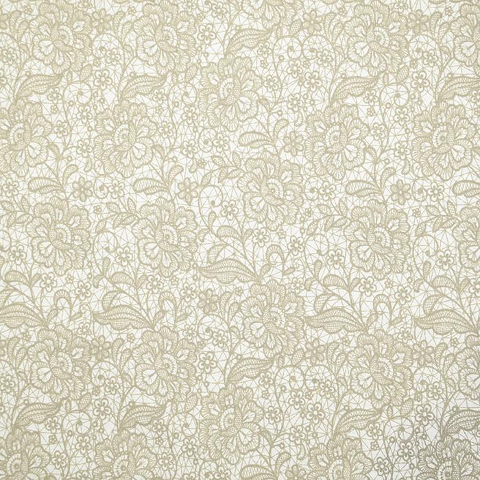 Bombaž, poplin, cvetlični, 18280-191, bež