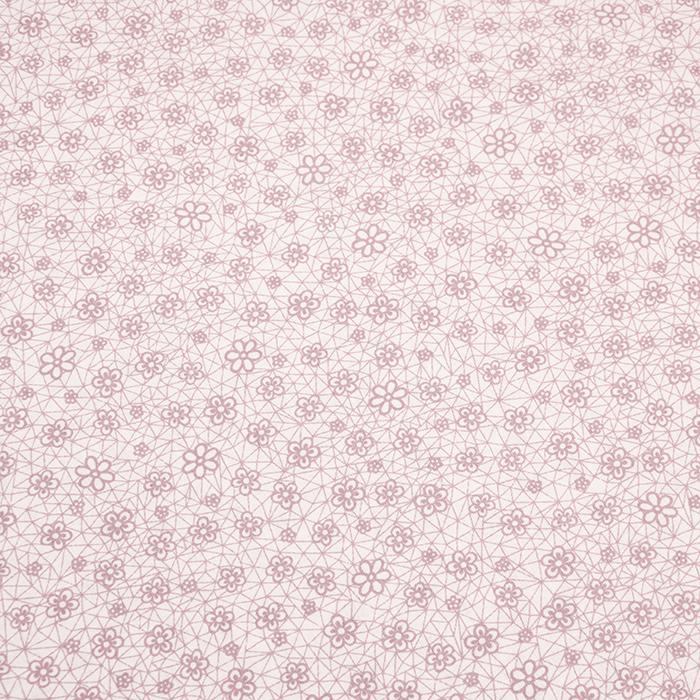 Bombaž, poplin, cvetlični, 18280-199, roza