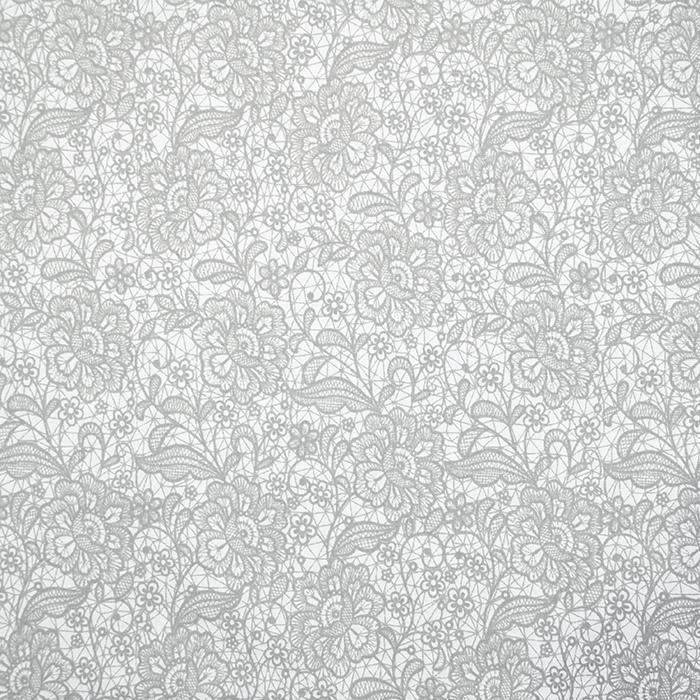 Bombaž, poplin, cvetlični, 18280-190, siva