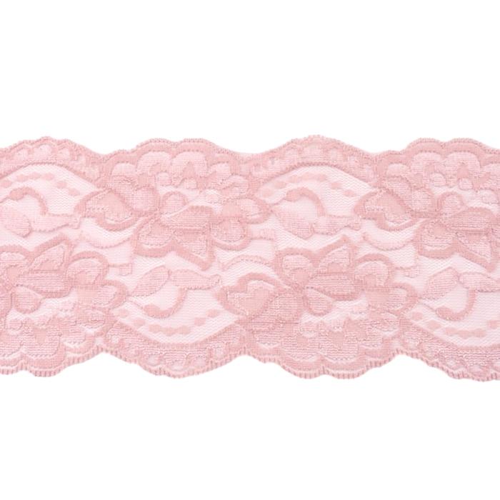 Čipka, elastična, 90mm, 19220-44429, roza