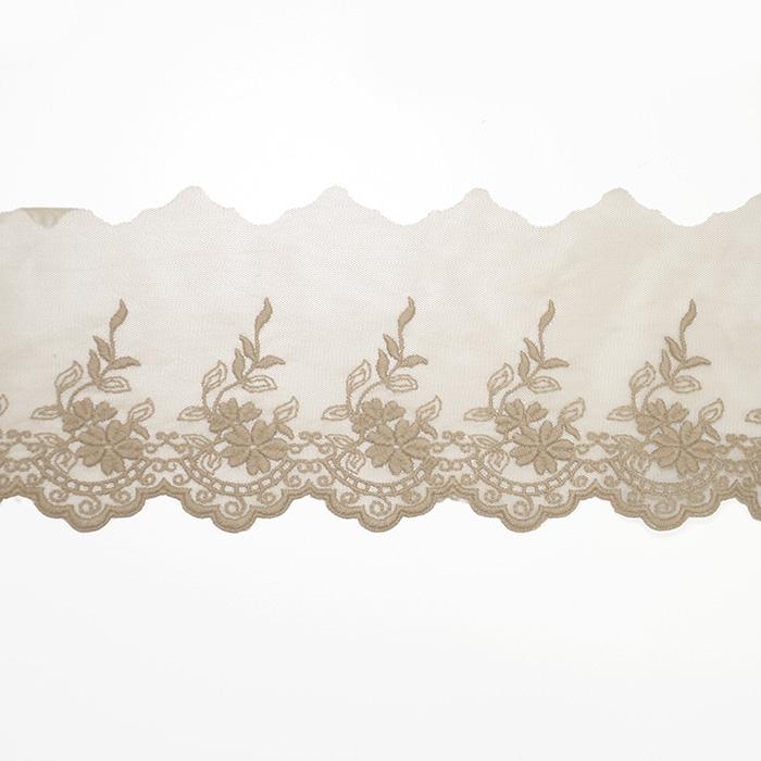 Čipka, vezena, 85mm, 19254-024, kožna