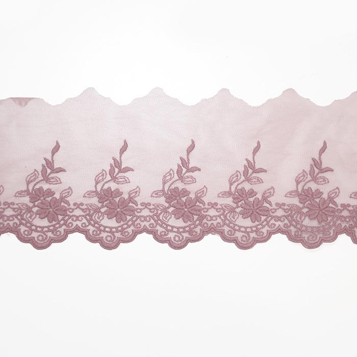 Čipka, vezena, 85mm, 19254-055, alt roza
