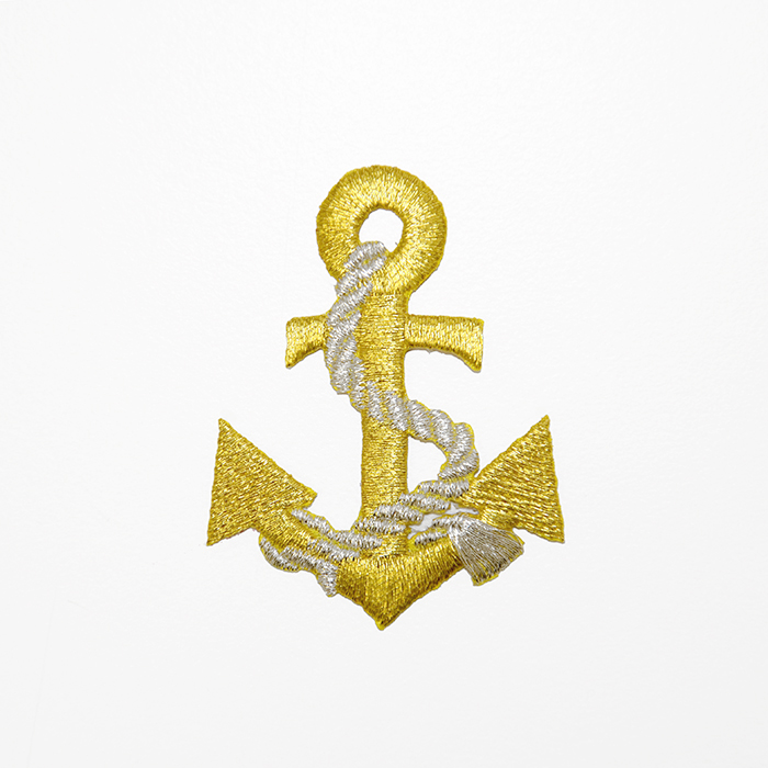 Prišivak, morski, sidro, 19260-100, zlatna