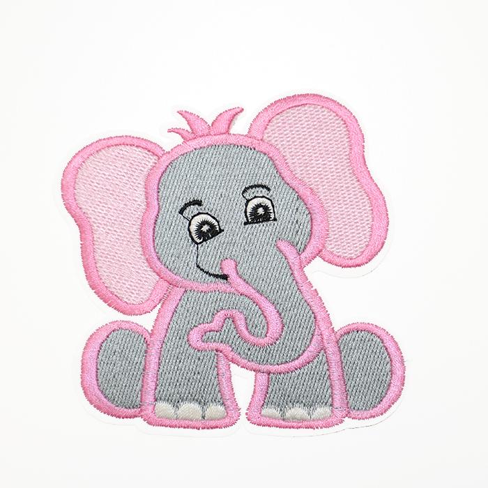 Našitek, slon, 19277-006, roza