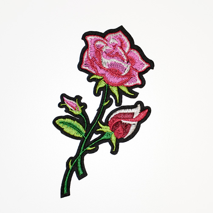 Našitek, vrtnica, 18940-006, roza