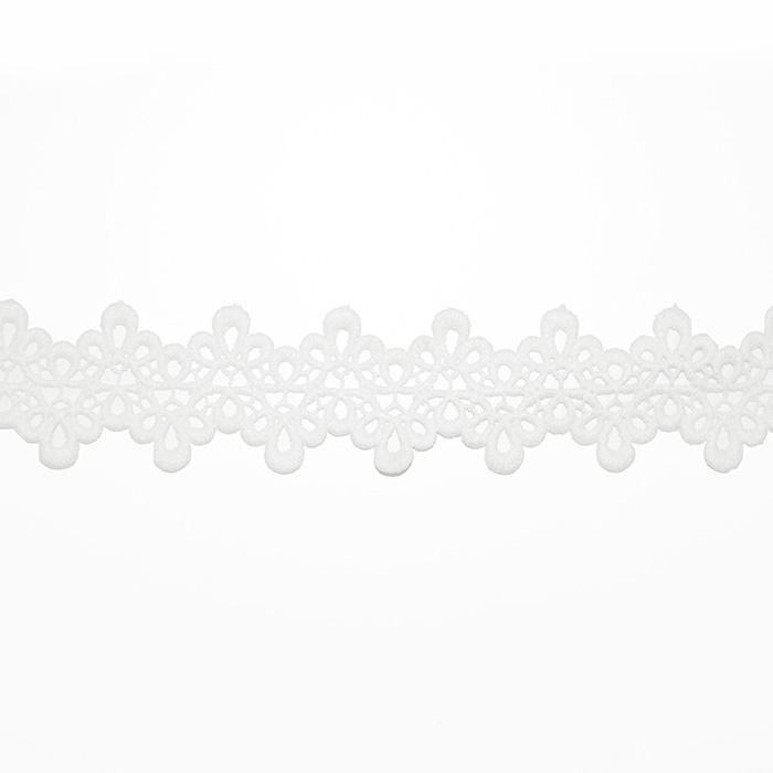 Čipka, 35mm, 18942-001, bela