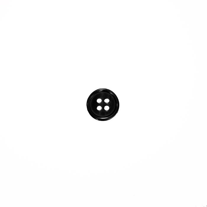Gumb, srajčni, 19285-002, črna