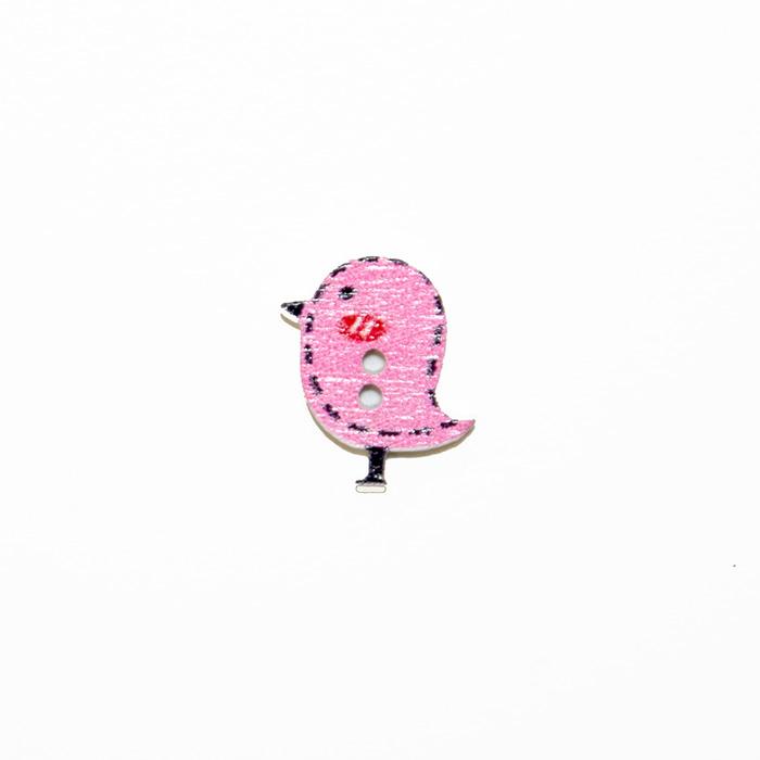 Gumb, les, ptica, 19303-011, roza