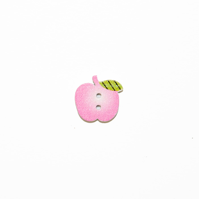 Gumb, les, jabolko, 19304-015, roza