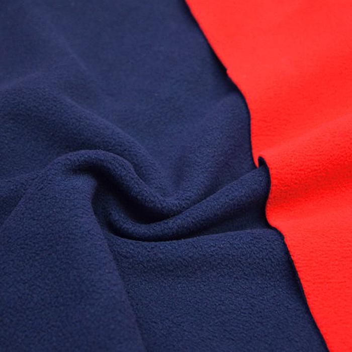 Velur, obojestranski, 010_10411, modra rdeča