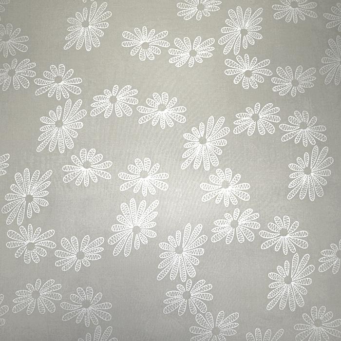 Bombaž, tanek, cvetlični, 19170-052, bež