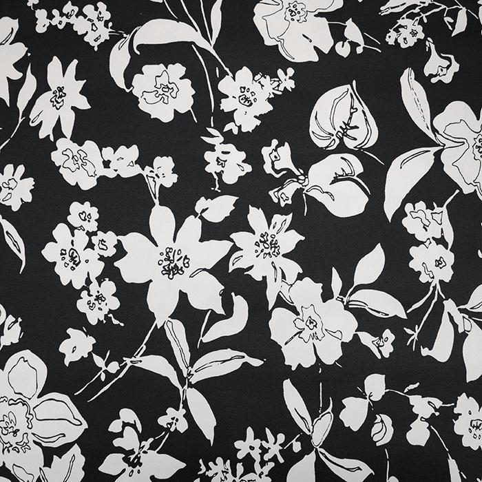 Saten, bombaž, cvetlični, 19328-069