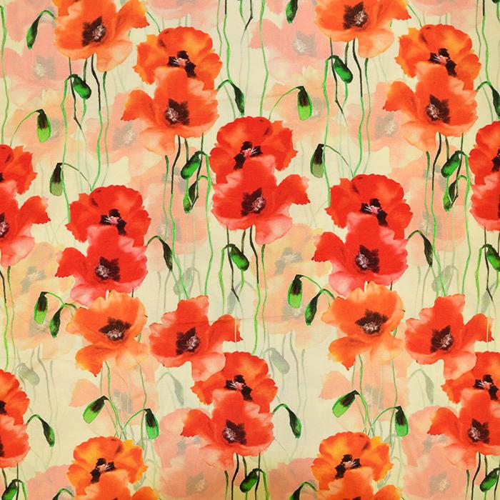 Jersey, Viskose, digital, floral, 19389-38