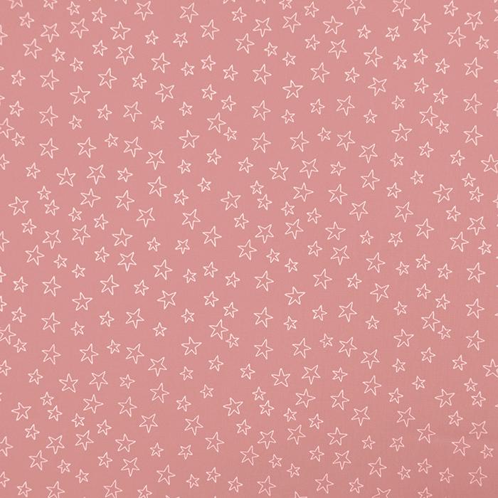 Bombaž, poplin, zvezde, 19134-014, roza