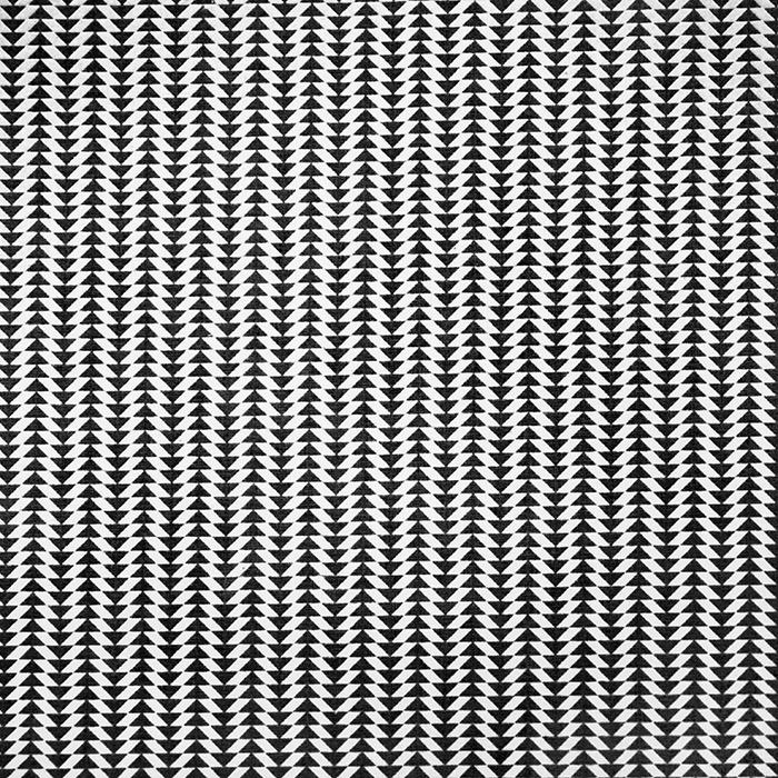 Bombaž, poplin, geometrijski, 19456-1, črna