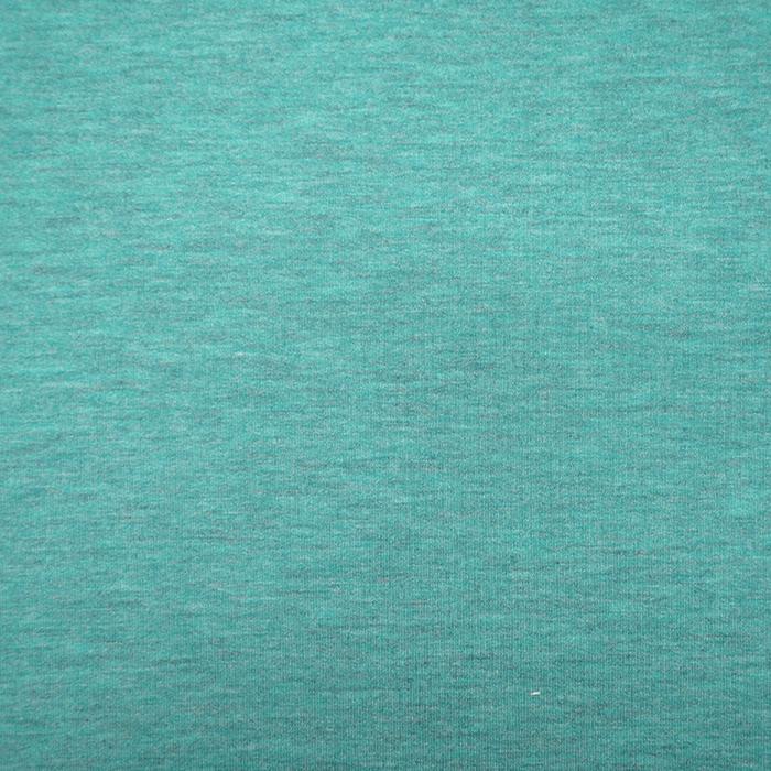 Triko materijal, melanž, 19203-248, tirkizna