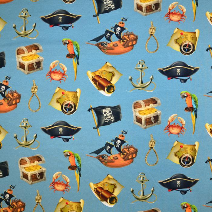 Jersey, pamuk, digital, morski, 19559-15