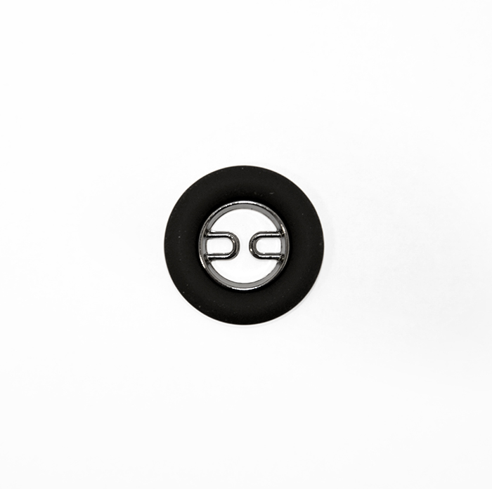 Gumb, kovinski, 36, 19583-105, črna