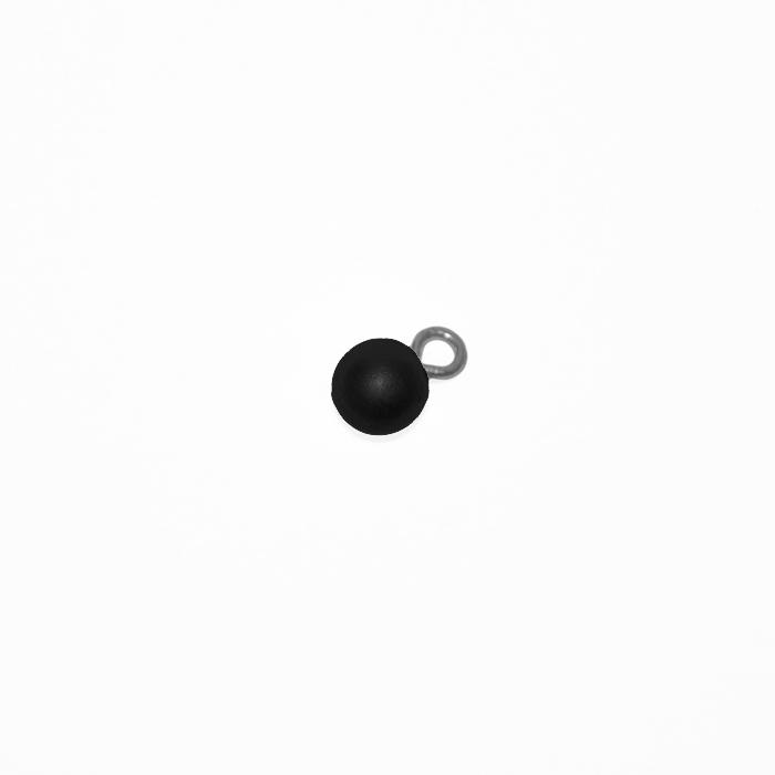 Gumb, perla 7, 19585-002, črna