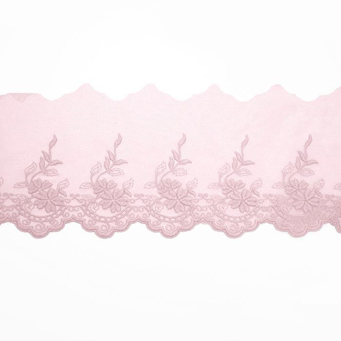 Čipka, vezena, 85mm, 19254-006, roza