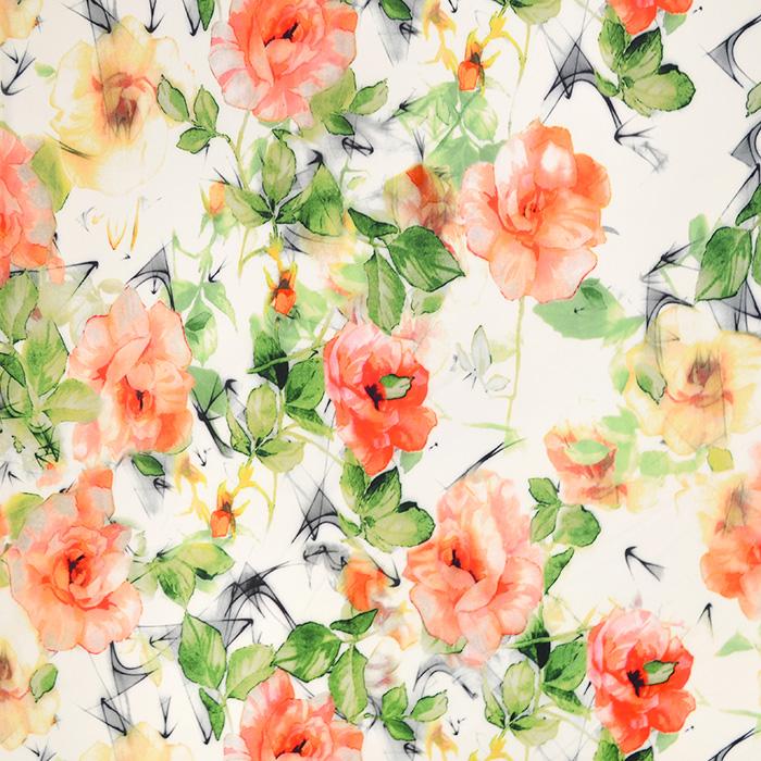 Gewebe, dünn, floral, 19642-050