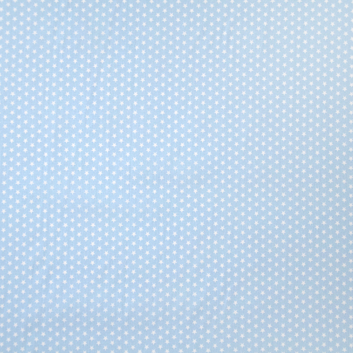 Bombaž, poplin, zvezde, 19657-020, modra