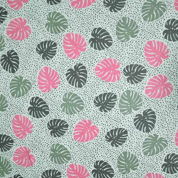 Tetra tkanina, dvojna, narava, 19660-006, mint roza