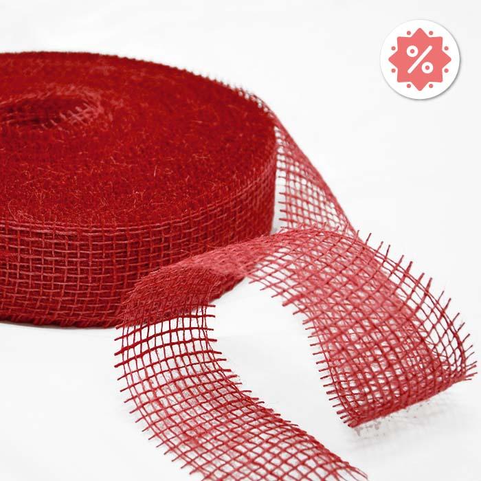 Juta, trak, 50 mm, 15427-3500, rdeča