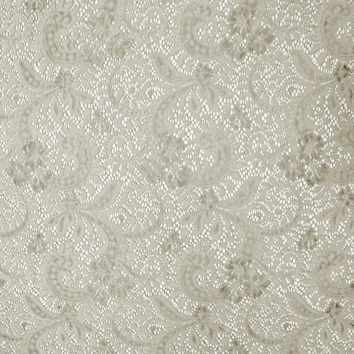 Čipka, elastična, ornamentni, 19725-052, bež