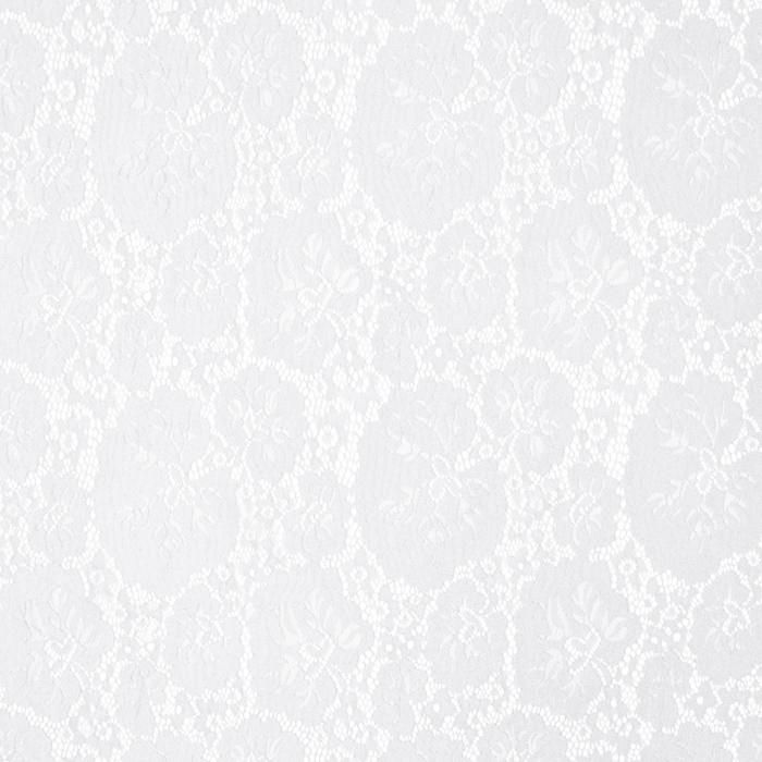 Čipka, elastična, cvetlični, 19726-051, bela