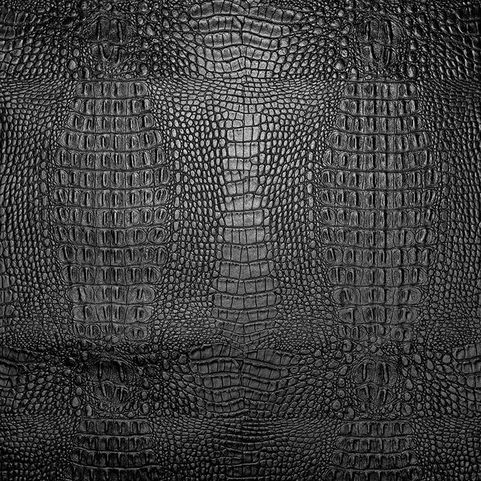 Kunstleder Timsah, 19795-4, schwarz