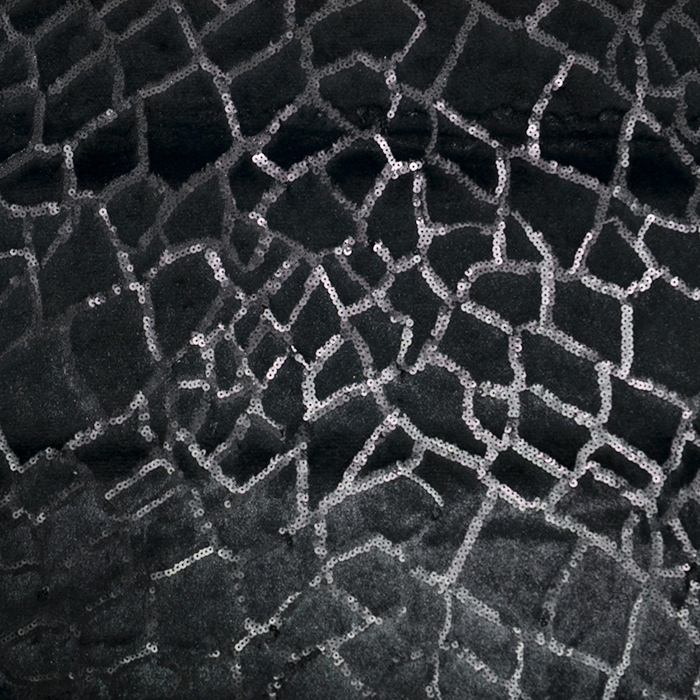 Umetno krzno, geometrijski, 19816-069, črna
