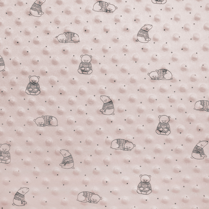 Velur coral, Minky, medvjedići, 19880-092, ružičasta