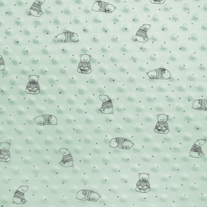 Velur coral, Minky, medvedki, 19880-321, mint