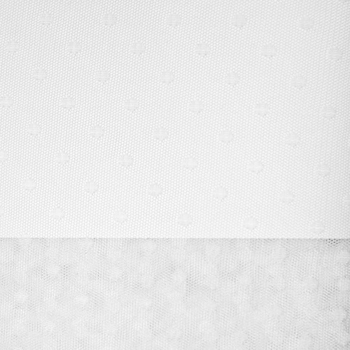 Tüll, weich, Punkte, 19988-62838, sahne
