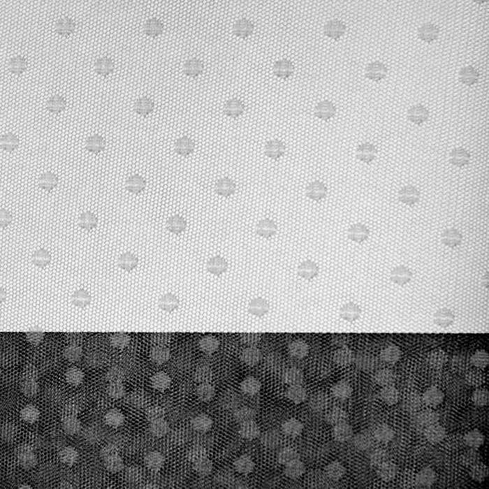 Tüll, weich, Punkte, 19988-62837, schwarz