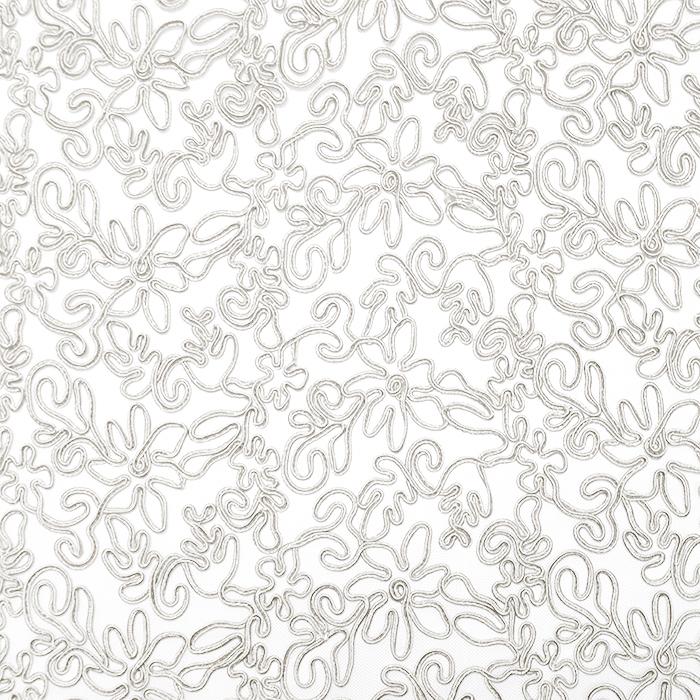 Čipka, prožna, cvetlični, 20017-052, smetana