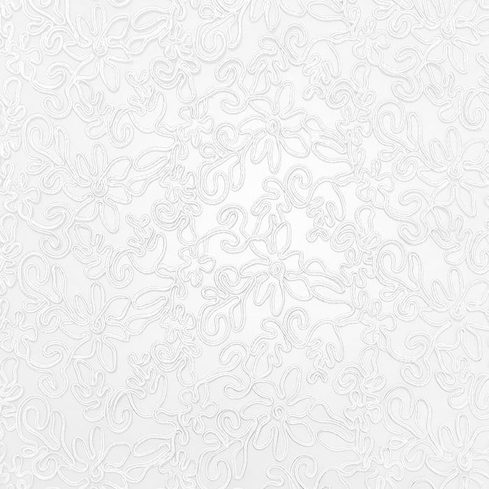 Čipka, prožna, cvetlični, 20017-050, bela
