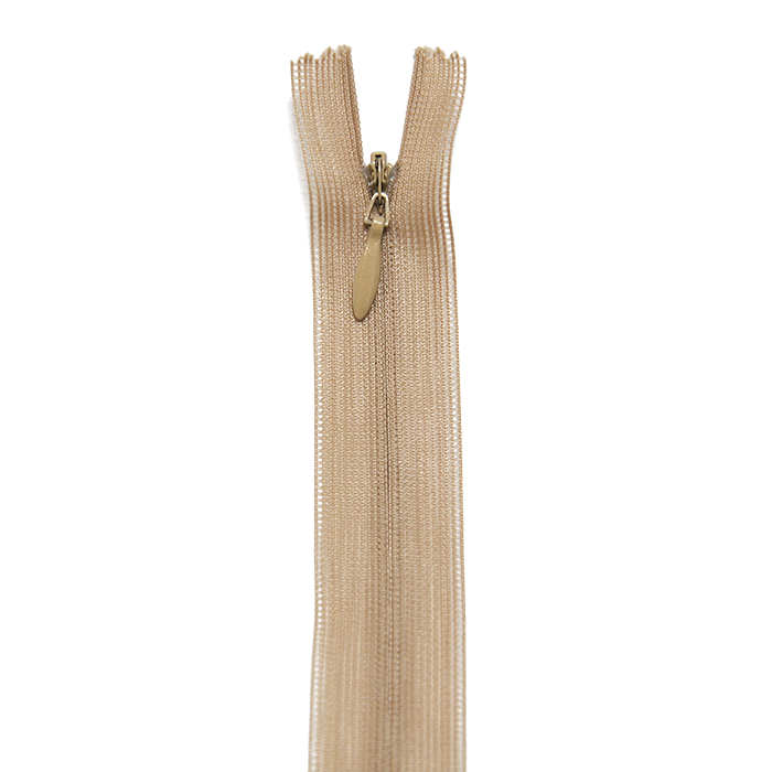 Zadrga, skrita, 60cm, 18298-707, bež
