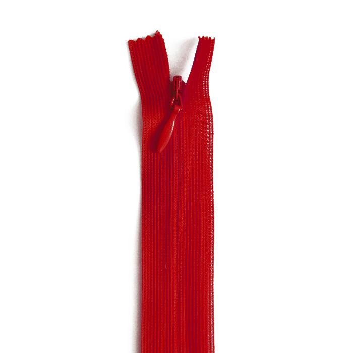 Zadrga, skrita, 60cm, 18298-548, rdeča