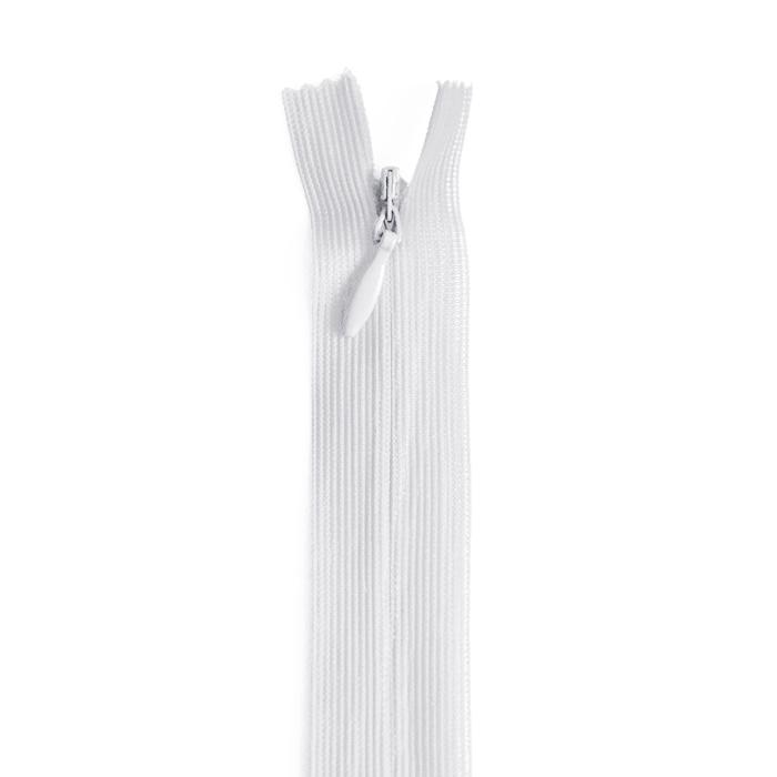Zadrga, skrita, 35 cm, 20038-501, bela