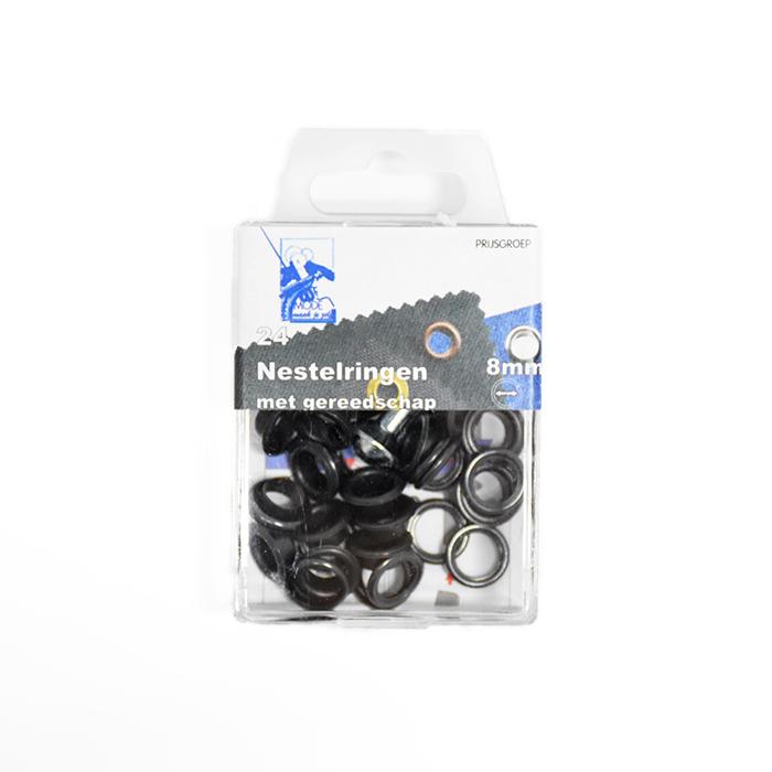 Rinke z orodjem, 8mm, 24kom, 11572-4, črna