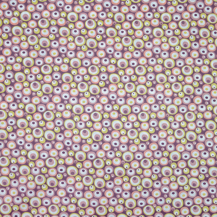 Bombaž, poplin, krogci, 20070-5, vijola