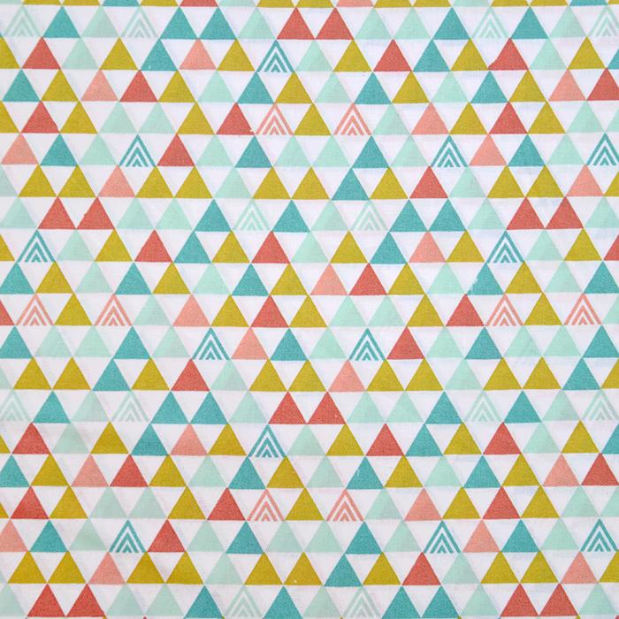 Bombaž, poplin, geometrijski, 20062-4, bela