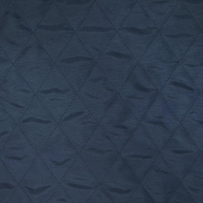 Prošiven materijal, karo, 20076-07, tamnoplava